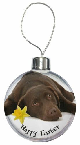 'Happy Easter' Chocolate Labrador Christmas Tree Bauble Decoration , ADL54DA1CB