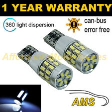 2X W5W T10 501 CANBUS ERROR FREE WHITE 30 SMD LED SIDELIGHT BULBS SL102801