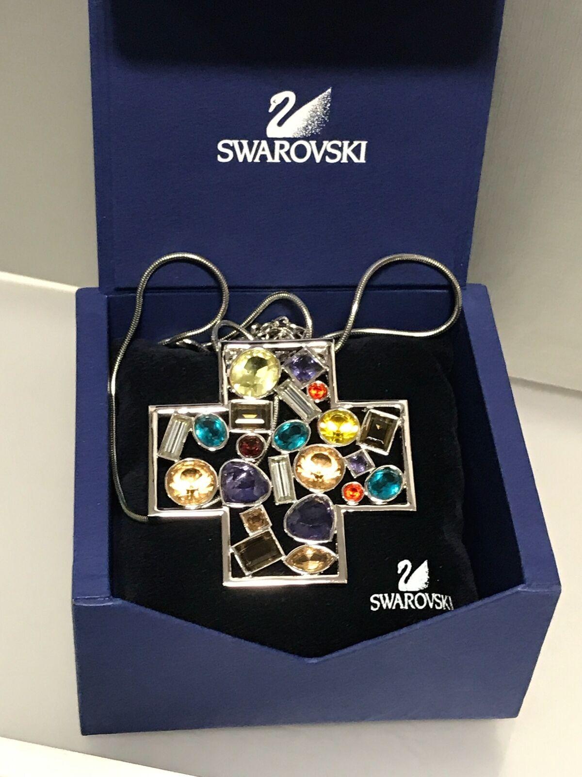Swarovski Halskette Kette 89 cm. mit Ovp. Unbenutzt. Top Zustand