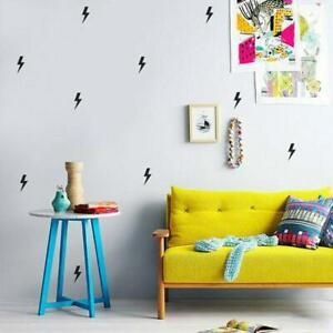 Superhero Lightning Bolt Wall Stickers Boys Bedroom Kids Nursery Vinyl Decal Ebay