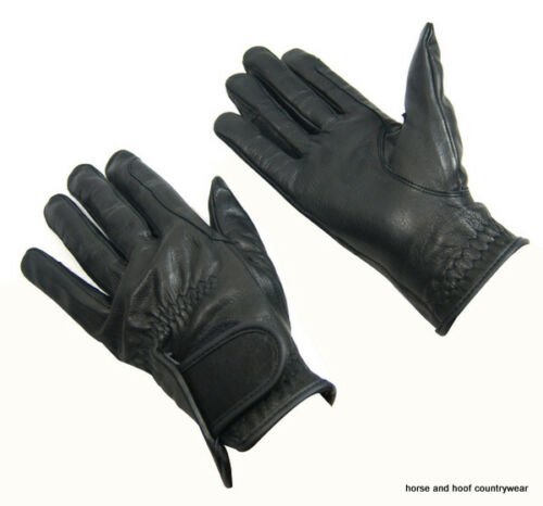 Bitz Kids Childs Horse Riding Gloves Winter Leather