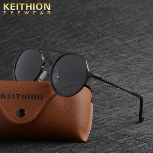KEITHION-Harley-Davidson-Vision-Aluminium-Polarise-Hommes-Femmes-Lunettes-De-Soleil-Rond-conduite