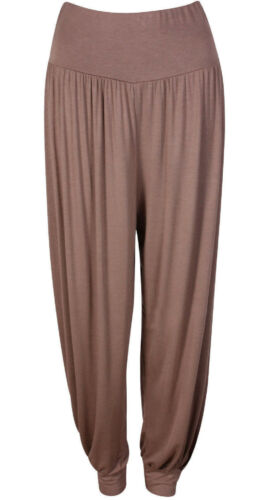 Donna Pantaloni Harem Ali Baba Lunghi Largo Leggings da Taglie Forti