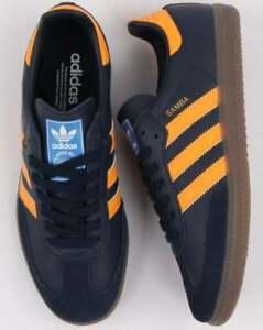 Details about Adidas Originals Samba Navy, Real Gold (Orange) & Gum BNIBWT.