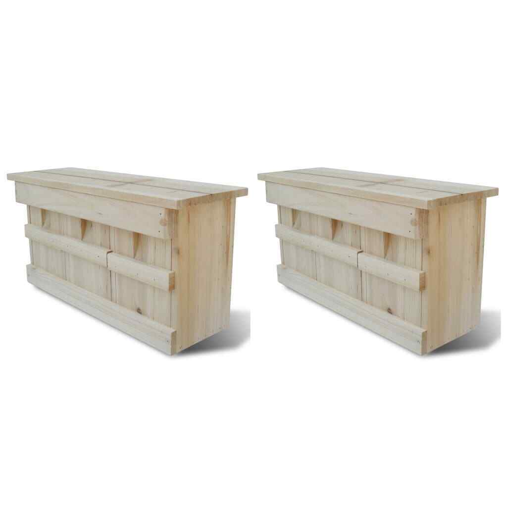 VidaXL 2x Holz Spatzenhaus Kolonienbrüter Spatzenvilla Nistkasten für Sperling | Die erste Reihe von umfassenden Spezifikationen für Kunden  | Preisreduktion  | Günstigstes