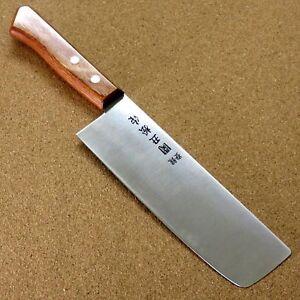 """Japonais Sumikama Cuisine Nakiri Knife 6.3"""" Red Packer Bois Poignée Seki Japan-afficher Le Titre D'origine De Nouvelles VariéTéS Sont Introduites Les Unes AprèS Les Autres"""