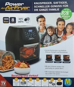 Power-AirFryer-Heissluftfritteuse-Fritteuse-Backen-mit-Drehgrill-Grill-Frittieren