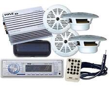 New Yacht Boat Marine MP3 USB Stereo Radio Receiver +4  X Speakers & 400Watt Amp