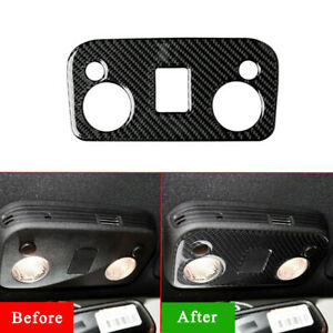 Carbon fiber Car Front Reading Light Lamp Cover Trim For Ford Mustang 2015-2019