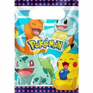 Details about Pokemon 8 x Party bags (Loot bags) Pikachu and friends