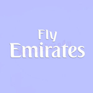 real madrid home away shirt sponsor fly emirates logo iron