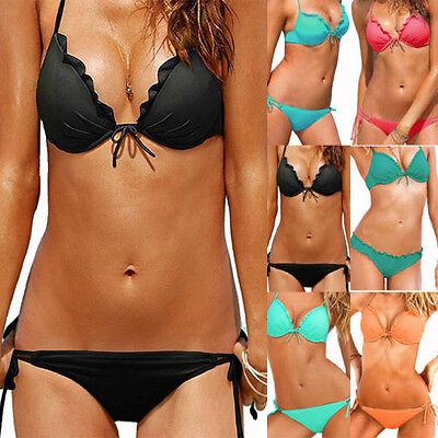 Stunning Badeanzug Bandeau Bikini Push-Up Split Badeanzug