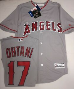 the best attitude f1240 e7af9 Details about OHTANI ANGELS MENS GREY COOL BASE JERSEY PICK SIZE MAJESTIC  SMALL MED LG XL NEW