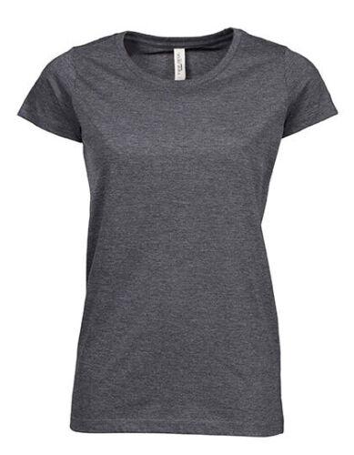 T-Shirt Damen Ladies Urban Melange Tee Kurzarm Rundhals 5051 NEU