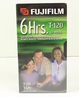2 Pack Fuji 6 Hour Hq 120 Blank Vhs Tapes Vcr