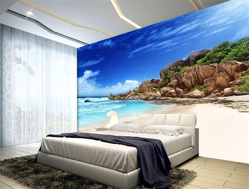 Grande Anse Beach Sea Full Wall Mural Photo Wallpaper Print Kids Home 3D Decal