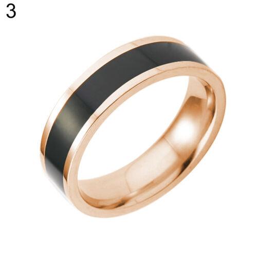 EG/_Herren Titan Edelstahl Unternehmen Hochzeit Verlobung Finger Ring Band