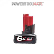 Milwaukee M12B6 12V 6.0Ah REDLITHIUM Li-Ion Battery genuine