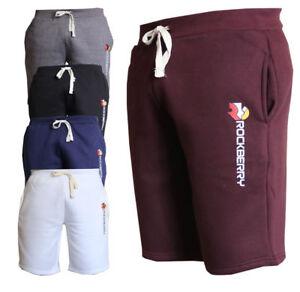 Da-Uomo-in-pile-Jogger-Pantaloncini-Jersey-Jogging-Vita-Elasticizzata-Pantaloncini-Estate