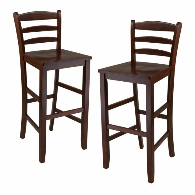 Winsome 29 Inch Bar Ladder Back Stool Set Of 2 Ebay