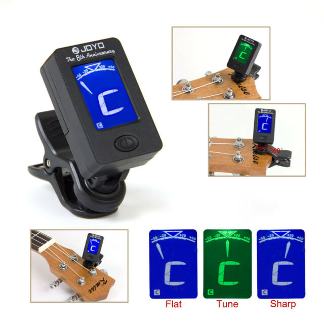 Accessories & Parts Hot Selling 360 Mini Lcd Clip Tuner Chromatic Clip-on Digital Tuner For Acoustic Electric Guitar Bass Violin Ukulele
