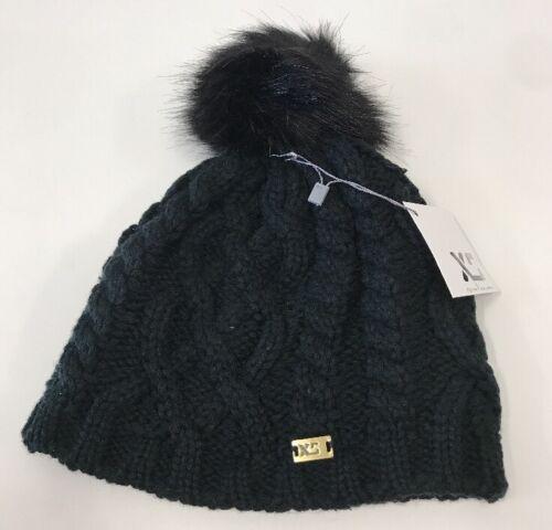 XS Unifed Helmets Pompom Hat Knitted Women/'s Black Beanie with pom NEW w// tags