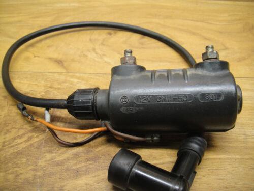 1974 YAMAHA OEM VINTAGE TX 750 TX750  IGNITION COIL COILS SPARK PLUG CAP WIRE