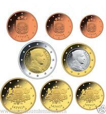 Série 1 Cent à 2 Euro Lettonie  2014