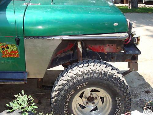 Tube Fender Kit YJ Jeep Wrangler D.I.Y Flat Fender Kit