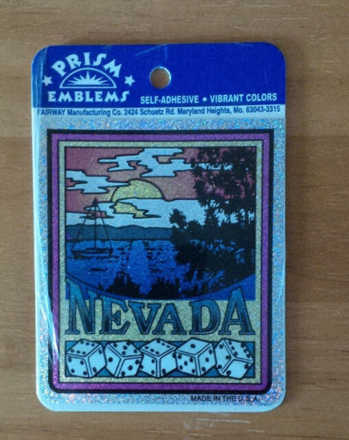 Nevada Prism Emblem Self-Adhesive Sticker Decal Sealed New