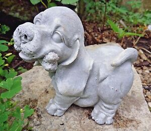 Latex only dog with bone mold plaster concrete garden casting mould