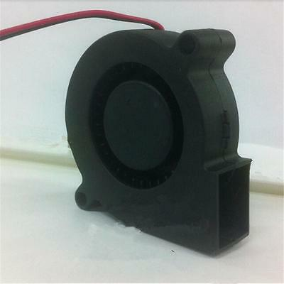 Showing Up Black Brushless DC Cooling Blower Fan 2 Wires 5015S 12V 0.06A JCAU