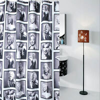 "Miss Marilyn Monroe Waterproof Fabric Bathroom Shower Curtain 12 Hooks 71"" inch"