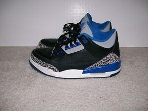 bd769e24e347 SZ 9 Air Jordan III 3 Sport Blue 136064 007 True White Cement Black ...