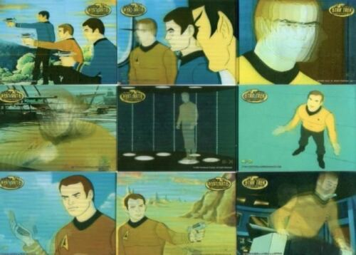 Star Trek The Complete Animated Adventures Kirk in Motion Chase Card Set