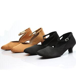 Brand-New-Women-039-s-Ballroom-Latin-Tango-Dance-Shoes-heeled-Salsa-2-Colors-C15