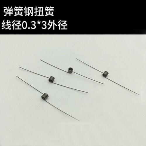 10Pcs 0.3mm Wire Diameter 3mm Outside Diameter Torsion Springs Straight-Spring
