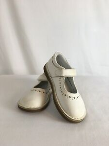 WILLITS-Barbara-Mary-Jane-White-Hearts-Leather-Toddler-Girls-Shoes-9-M