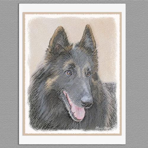 6 Belgian Tervuren Dog Blank Art Note Greeting Cards