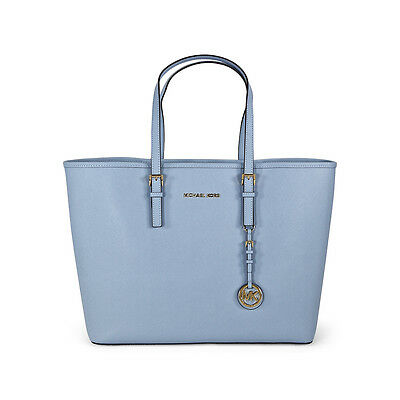 Michael Kors Jet Set Travel Saffiano Leather Tote - Pale Blue