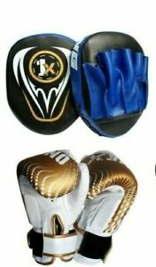 Focus-Pads-Boxing-Gloves-Set-Training-Mitts-MMA-Sparring-Kick-Strike-Leather