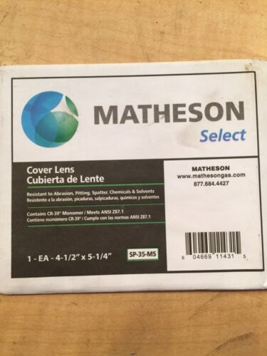 Lot Of 3 Matheson 4 1//2 X 5 1-4 Cover Lens SP-35-MS