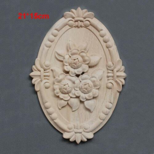 Wooden Mouldings Furniture Applique Onlays Decorative Carvings Ornament Elements