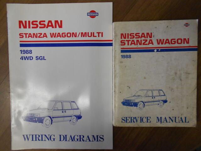 1988 Nissan Stanza Wagon Service Repair Shop Manual Set