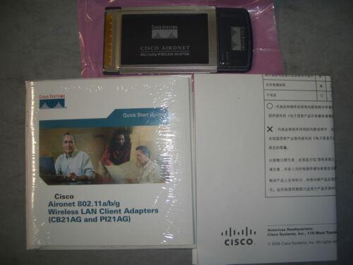 NEW CISCO AIR-CB21AG-A-K9 WIFI ADAPTER 802.11 AIRONET WIRELESS
