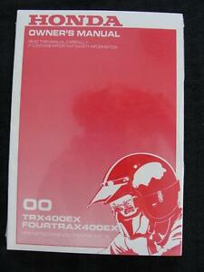 2000 honda 400ex owners manual