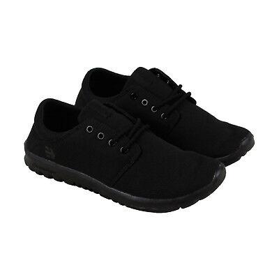 Etnies Pioneer 4101000504003 Mens Black Canvas Low Top Athletic Surf Skate Shoes