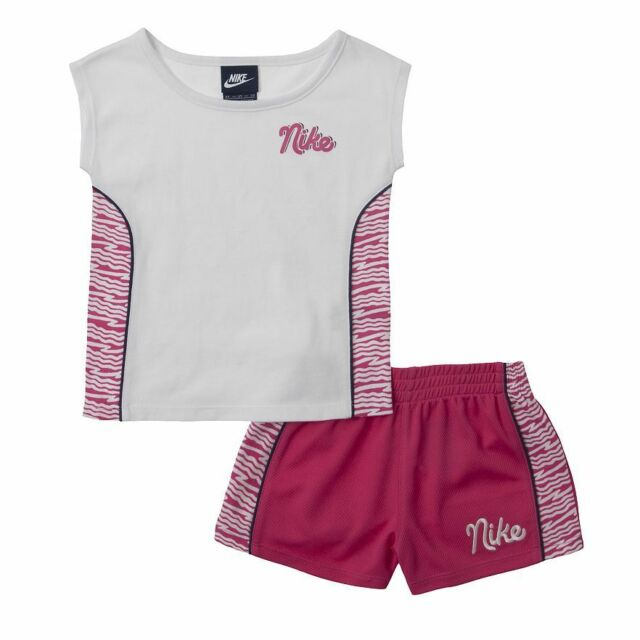 21d396d85478 NIKE Toddler Girls 2 Piece Set Tee Shirt Top Shorts NWT 2T Athletic Sports  Play