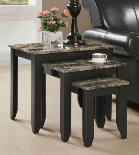 3-Pc Nesting Table Set in Cappuccino Finish ID 129539