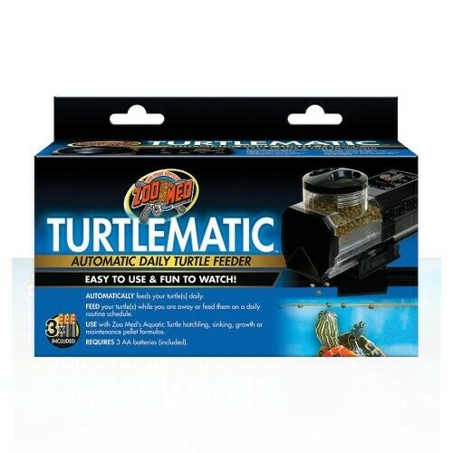 moda classica Zoo Med Turtlematic Automatico Giornaliero Giornaliero Giornaliero Tartaruga Mangiatoia - Novità  punti vendita